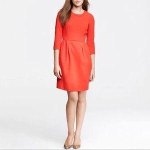 Jcrew factory black wool blend dress
